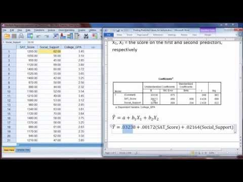 Predicted Values in Regression Using SPSS - Linear Regression Formula (Part 1)