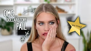 HUSBAND BUYS MY DOLLAR STORE MAKEUP | Samantha Ravndahl