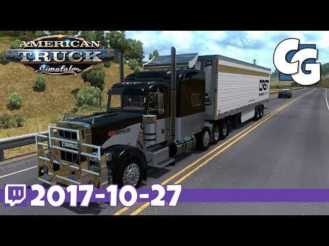 American Truck Simulator - VOD - 2017-10-27 - US 50 & CA 99 Map for 1.29 - ATS Gameplay