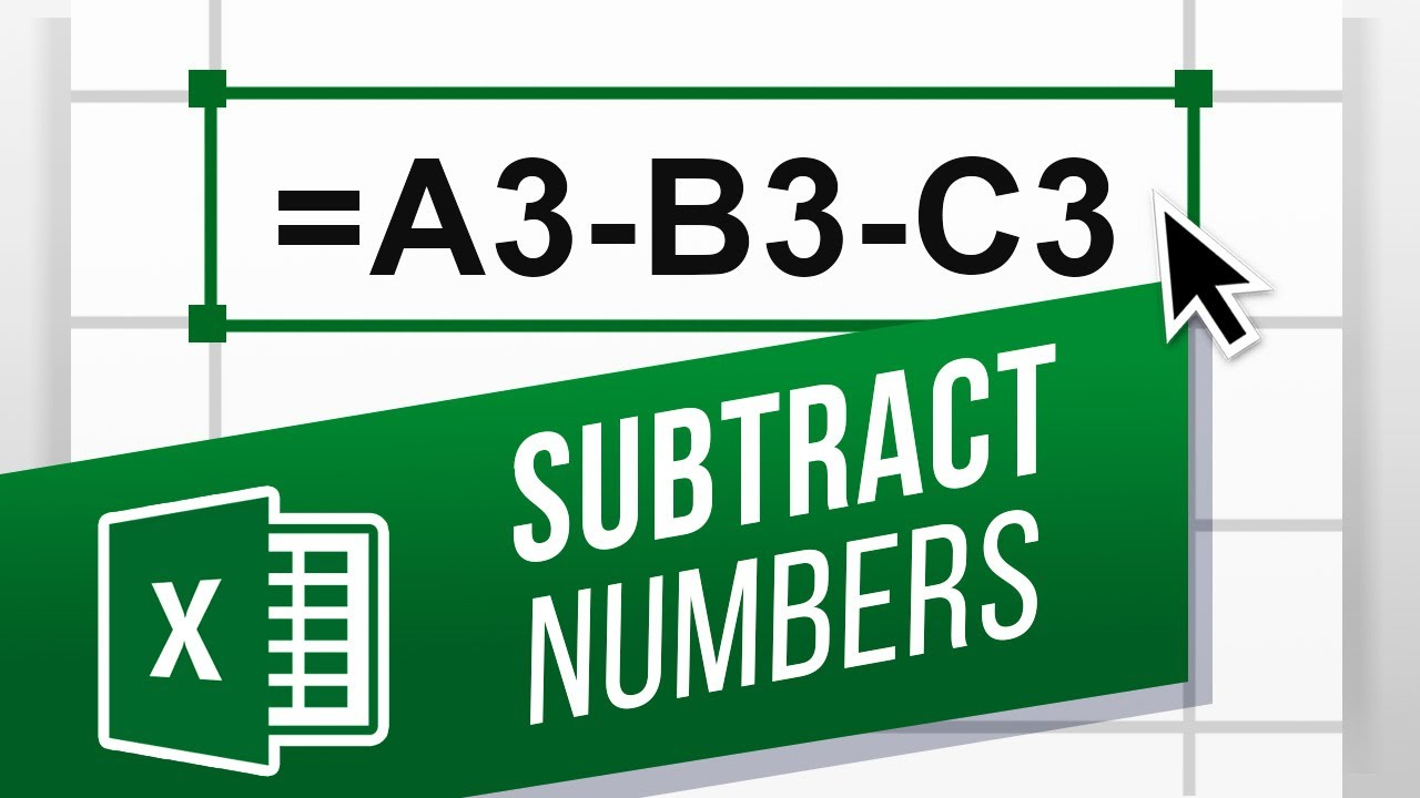 How To Subtract In Excel Excel Minus Formula Beginners Tutorial Easy Excel Formulas Youtube How to write subtract function in excel
