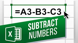 How To Subtract In Excel | Excel Minus Formula [Beginners Tutorial / Easy Excel Formulas]