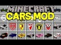 Minecraft CARS MOD!   DRIVE CARS, OVER 30+ NEW CARS, & MORE!   Modded Mini-Game