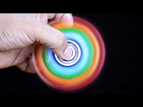 Homemade 1000 MPH RAINBOW FIDGET SPINNER   DIY Easy 99999+ RPM EDC Hand Spinner