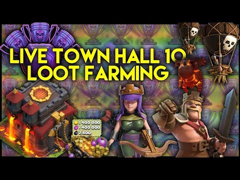 🔴 LIVE Town Hall 10 [TH10] Farming To Max | Base Reviews | Clan Games - Clash of Clans