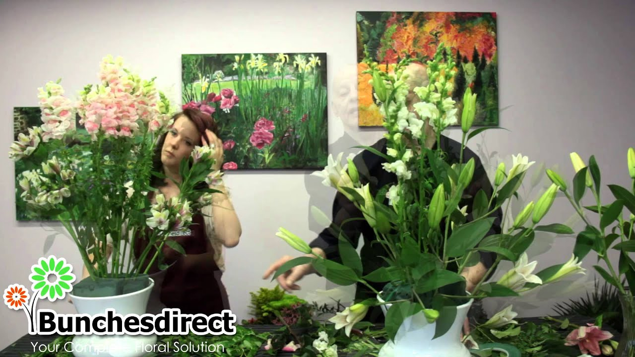 Do it yourself large long stem wedding arrangement youtube
