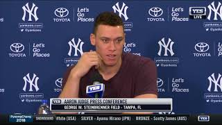 Aaron Judge reports to 2018 Yankees Spring Training - FULL PRESS CONFERENCE