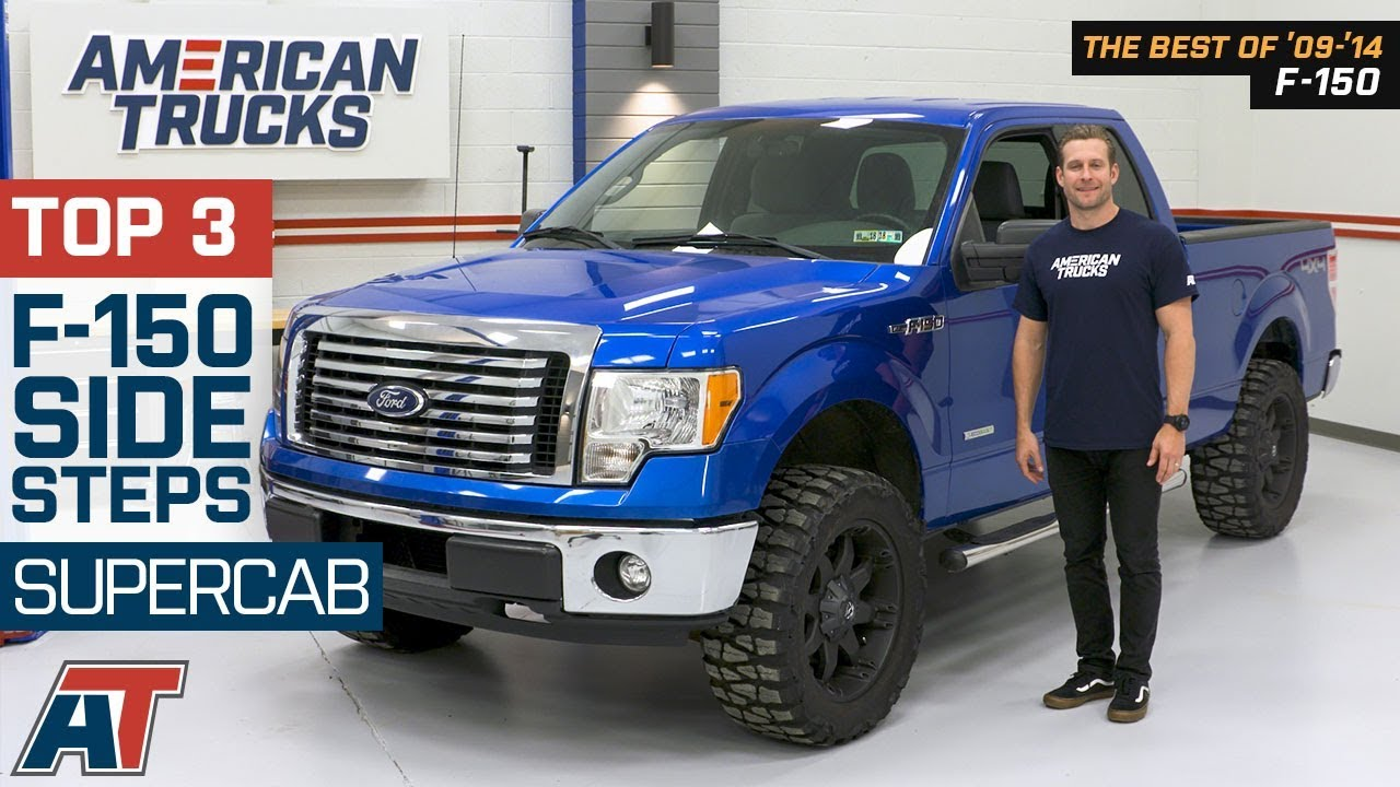 """FOR 09-14 FORD F150 EXT//SUPER CAB 5/"""" BLACK OVAL SIDE STEP NERF BAR RUNNING BOARD"""