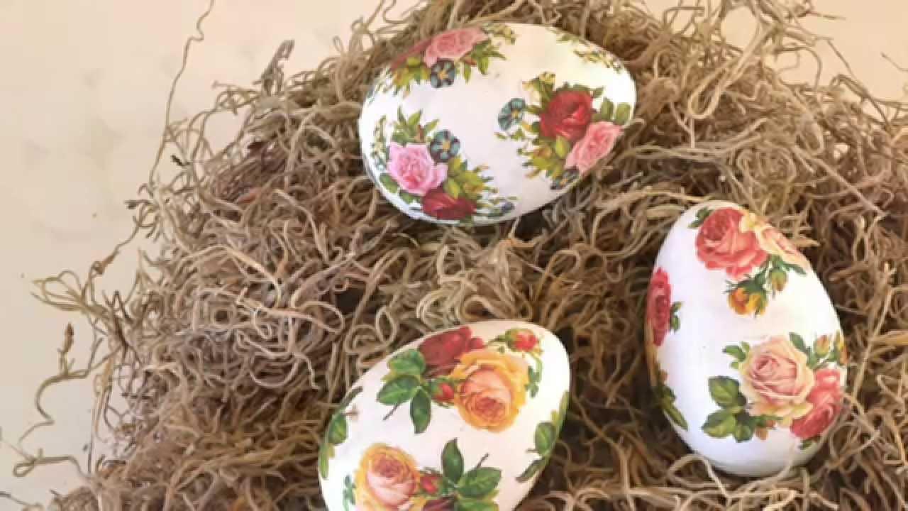 Decoupage Easter eggs: decoration technique 94