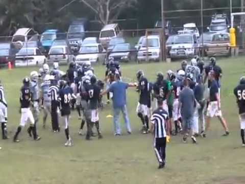 Bulldogs vs Sharks FIGHT Costa Rican American Football