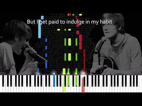 Bo Burnham // art is dead. | LyricWulf Piano Tutorial on Synthesia