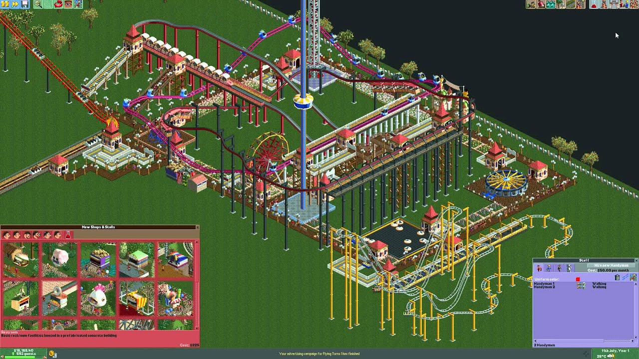 How to make money with park entrance fee - Roller Coaster Tycoon 2