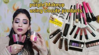 Cocute Makeup || AliExpress Makeup haul + Makeup look using  new Makeup