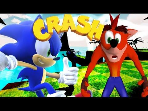 CRASH, SONIC E OUTROS! -  Crash Retro World