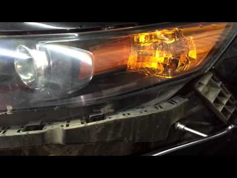 ВИДЕО УРОК Снятие фары Honda Accord / Хонда Аккорд