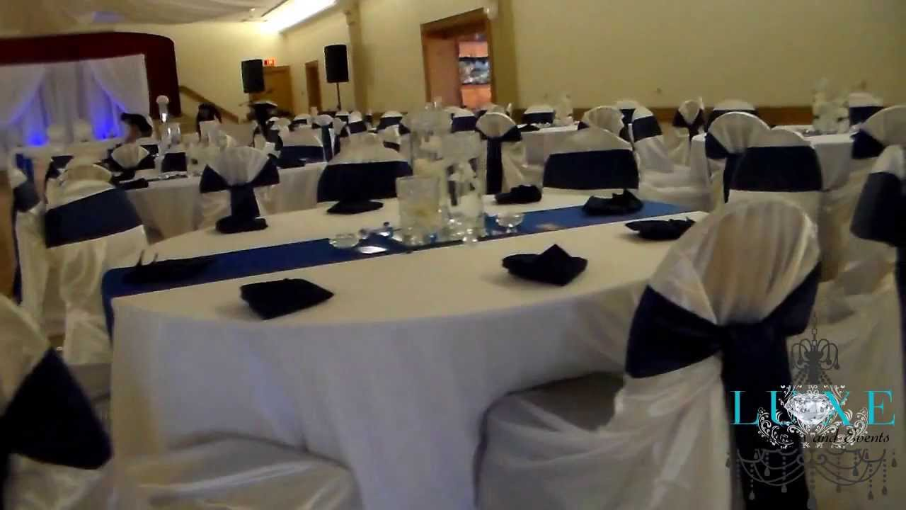2013 Royal Blue Wedding Decor by LUXE Weddings and Events - YouTube