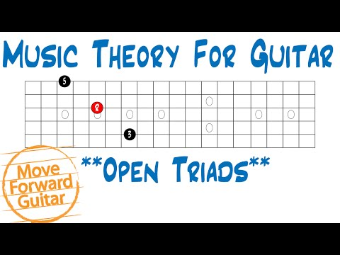Music Theory for Guitar - Open Triads