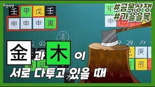 [중급] 57강 - 가을 신유술월의 을목 : 금목상쟁⚡