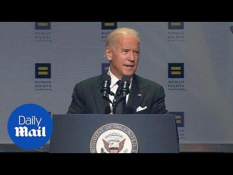 Joe Biden praises LGBT progress at Human Rights Campaign dinner - Daily Mail