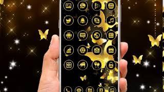 Black Golden Butterfly Glitter Theme screenshot 3