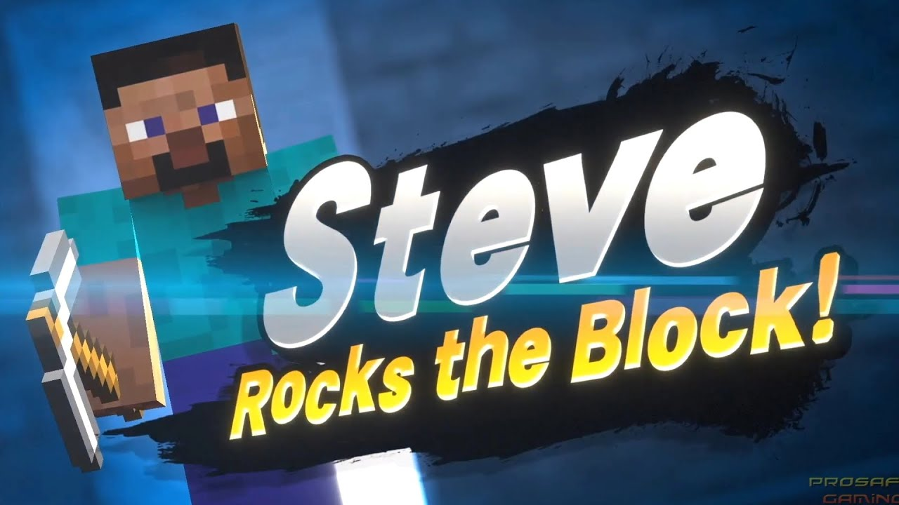 Super Smash Bros Ultimate Minecraft Steve Reveal Trailer Nintendo Direct 2020