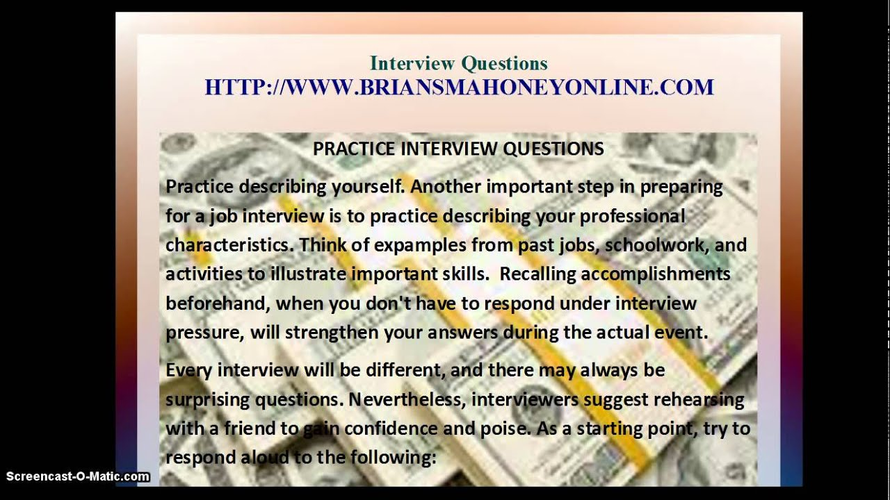 agricultural engineer interview questions - Mock Interview Questions Job Interview Videos Practicing