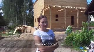 видео Дом из бруса 150х150 - каталог проектов деревянных домов