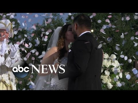 Couple has fairy tale wedding at Walt Disney World