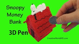 How to make Snoopy Money Bank/ 3D Pen DIY Tutorial by Creative World
