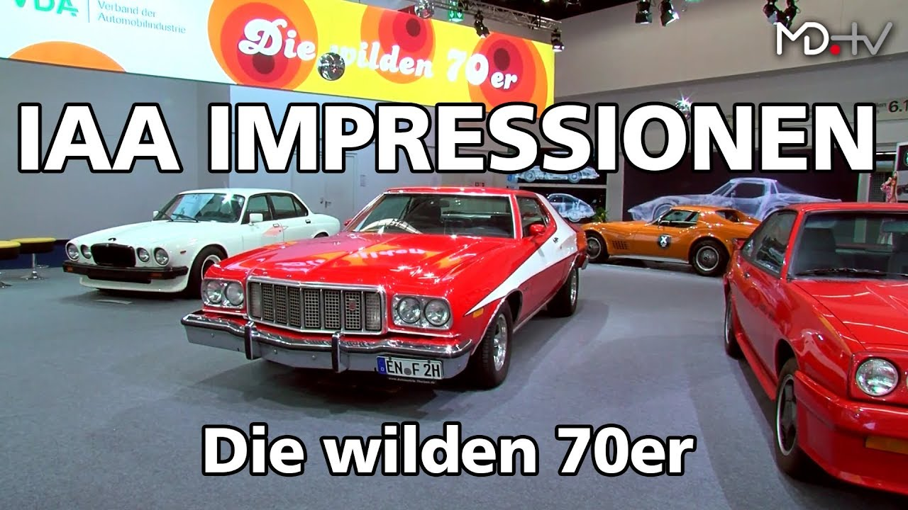 md iaa 2017 impressionen der avd zeigt autos aus den wilden 70er jahren youtube. Black Bedroom Furniture Sets. Home Design Ideas
