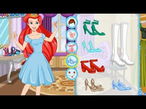 NEW Игры для детей 2015—Disney Принцесса Ариэль Макияж—Мультик Онлайн Видео Игры Для Девочек