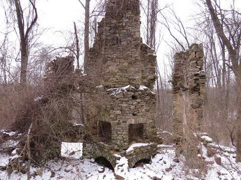 The Abandoned ruins of Milford Mills at Marsh Creek State Park