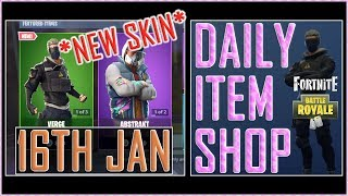 Fortnite: Daily Item Shop (16th Jan 2019) *NEW* VERGE Featured Skin - Battle Royale New Items
