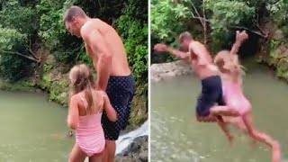 Why Tom Brady's Cliff Jump With Daughter Is Being Criticized