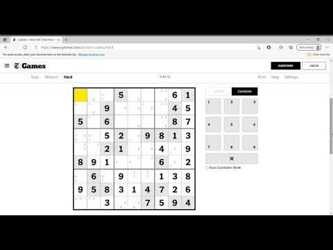 Hard Sudoku New York Times April 3