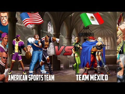 [Mugen - KOF HD] American Sports Team vs. Team Mexico