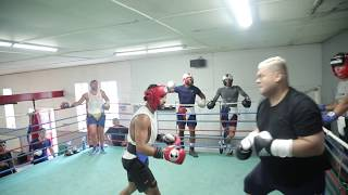 KID GALAHAD IN SPARRING TEAR UP WITH HEAVY D AT THE INGLE GYM - HD VERSION