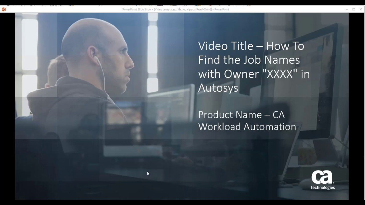 CA Workload Automation AE: Finding Job Names with One Specific Owner