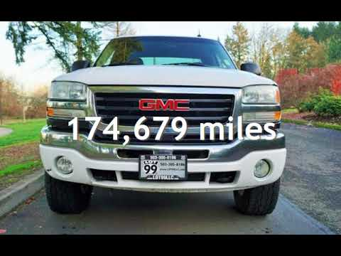 2003 GMC Sierra 2500 SLT 4dr Extended Cab 4X4 DURAMAX for sale in Milwaukie, OR
