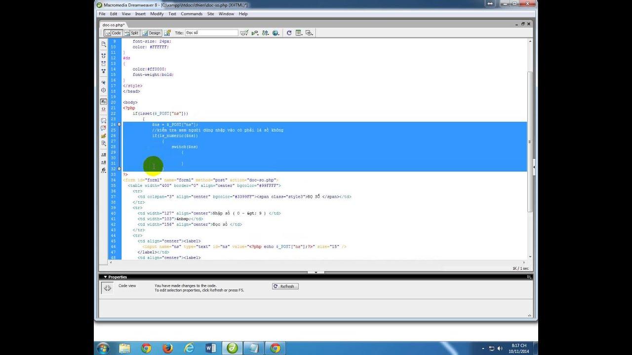 Lập trinh web - PHP căn bản - Bài 13: Đọc số - tin học