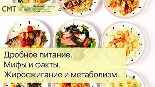 Дробное питание. Разгоняем метаболизм. Мифы и факты. Жиросжигание и метаболизм.