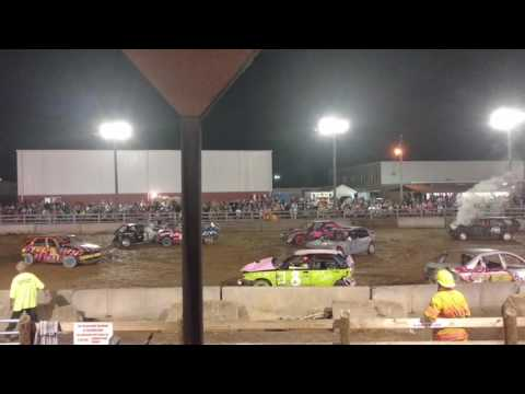 Demolition Derby at The 2016 Highland County Fair # 4