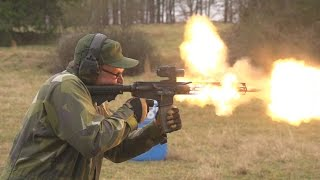 ULTIMATE AR-15 MELTDOWN!(In this video we attempt to burn out an AR-15 upper on an M16 lower. We are testing the durability of not only the upper receiver assemby but few specific ..., 2015-01-15T02:23:37.000Z)