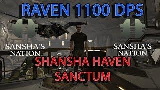 EVE ONLINE  en ESPAÑOL Fiteo Raven 1100 Dps Null Sec Sansha Haven Sansha Sanctum