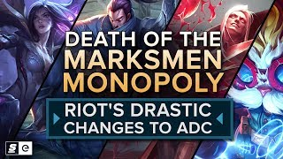 The Death of the Marksmen Monopoly: Riot's drastic changes to ADC