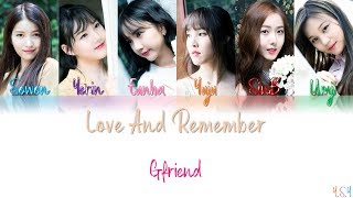 Download Lagu [COVER] GFRIEND (여자친구) - Love And Remember (사랑해 그리고 기억해) [Han/Rom/Eng s)