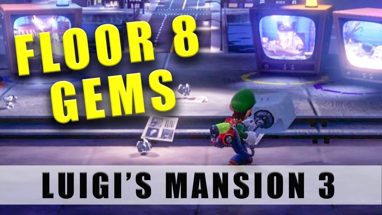 Mansion 3 Floor 8 gems and ice block