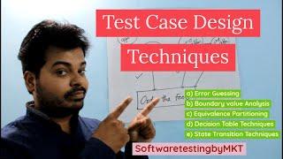 Test Case Design Techniques | Easily Explained | SoftwaretestingbyMKT