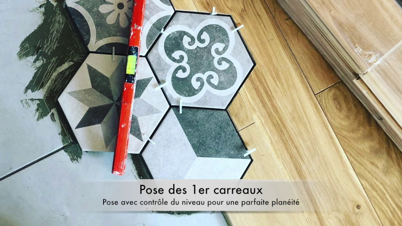 Poser Un Carrelage Sur Du Parquet carrelage hexagonal/parquet