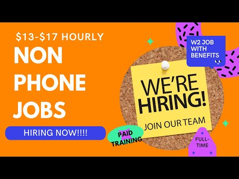 Earn $13-$17 Hourly  Non Phone Work From Home Jobs