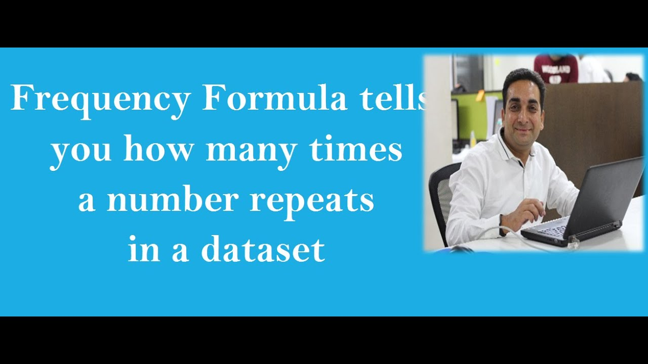 how to find the frequency in excel